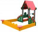 Песочница игровая с домиком