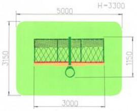 Ворота для мини футбола с баскетбольным кольцом
