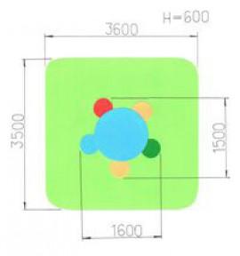 Столик детский «Семицветик»